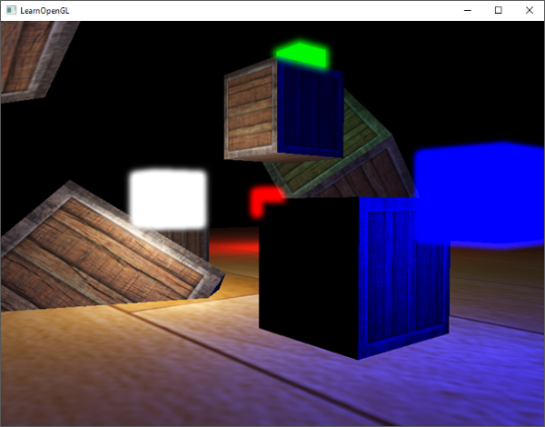 Example of the Bloom or Glow post-processing effect in OpenGL with HDR