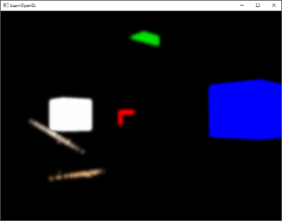 Bright regions extracted for glow or bloom effect are blurred in OpenGL