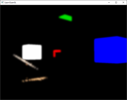 Blurred image using Gaussian Blur of extracted brightness regions for the glow or bloom effect in OpenGL