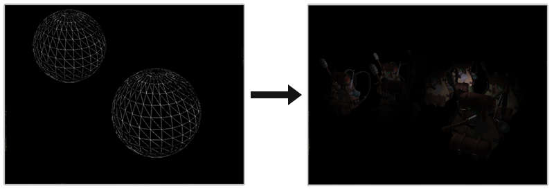 Image of a light volume rendered with a deferred fragment shader in OpenGL