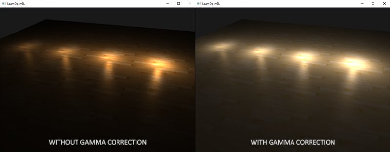 Comparrison between working in linear space with sRGB textures and linear-space textures
