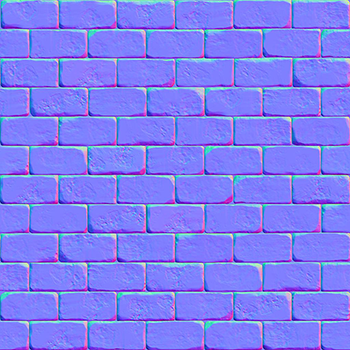 Image of a normal map in OpenGL normal mapping