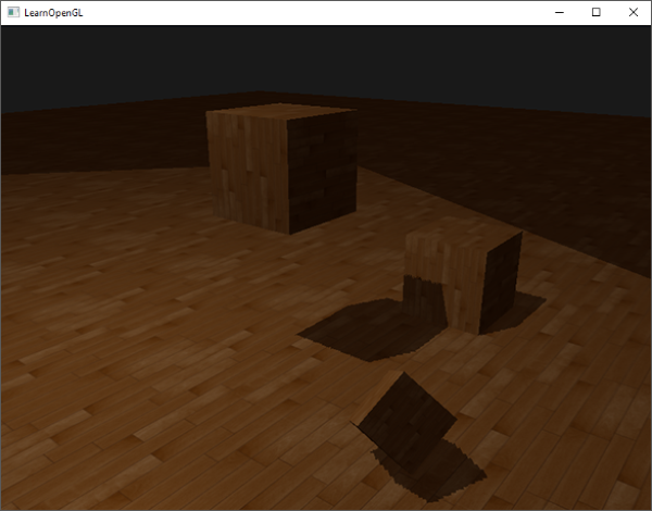 Shadow mapping with edges of depth map visible, texture wrapping