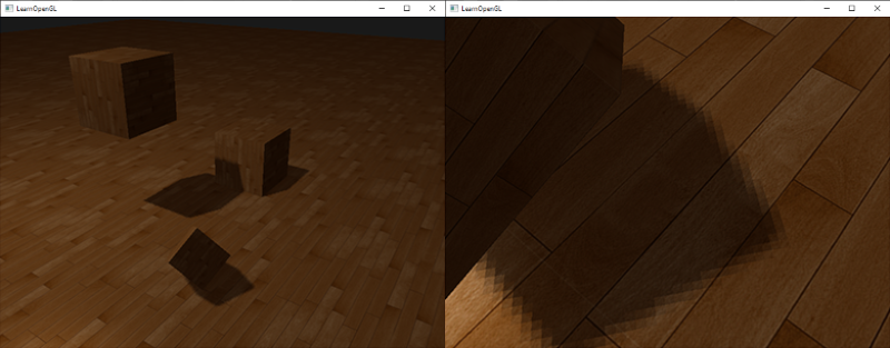 Soft shadows with PCF using shadow mapping