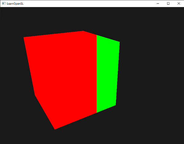 Cube in OpenGL drawn with 2 colors using gl_FragCoord