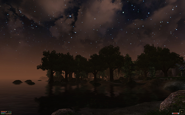 Image of morrowind with a skybox