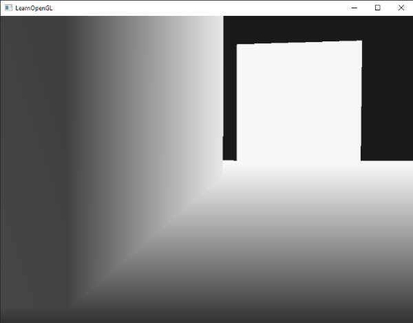 Depth buffer visualized in OpenGL and GLSL