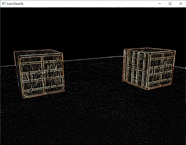 Post-processing image of a 3D scene in OpenGL with edge detection filter