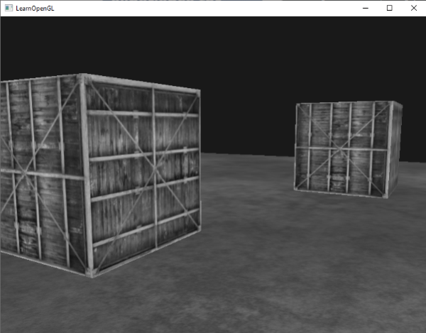 Post-processing image of a 3D scene in OpenGL with grayscale colors