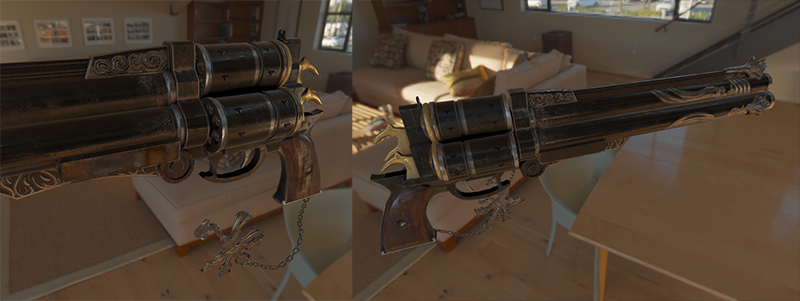 Render in OpenGL of full PBR with IBL (image based lighting) on a 3D PBR model.